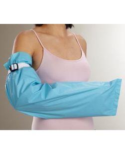 Arm Fluid-Resistant Garment, 9 x 36, White/ Blue, Latex Free (LF), 24/cs