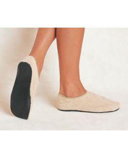 Adult Slippers, 11-12, Beige, 60/cs