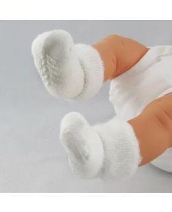 Newborn Booties, Tread, White, 48 pr/cs