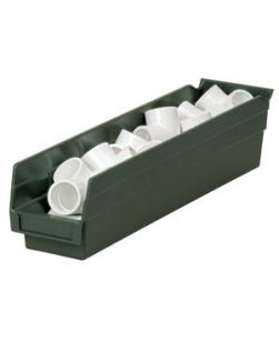 EarthSaver Bin, 17 7/8 x 4 1/8 x 4 (OD), 16 1/2 x 3 x 4 (ID), Hunter Green, 12/cs
