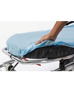 SnugFit® Fitted Stretcher Sheet, Light Blue, Non-Woven, 30 x 84, 50/cs