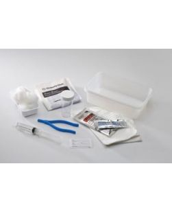 Catheter Insertion Tray, 10cc Prefilled Syringe & (3) BZK Swab Sticks, 20 trays/cs (Continental US Only)