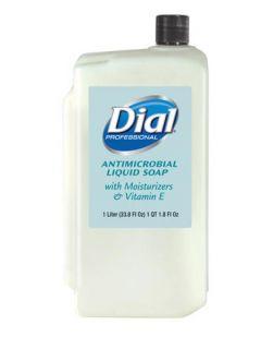 Liquid Hand Soap, Antimicrobial, w/ Moisturizers & Vitamin E, 1 Liter Refill, 8/cs (2340084029, 1747055, 1937905)