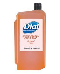 Gold Liquid Hand Soap, Antimicrobial, 1 Liter Refill, 8/cs (2340084019, 724706, 1937181)