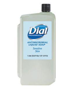 Sensitive Skin Liquid Hand Soap, Antimicrobial, 1 Liter Refill, 8/cs (2340082839, 1747317, 1937894)