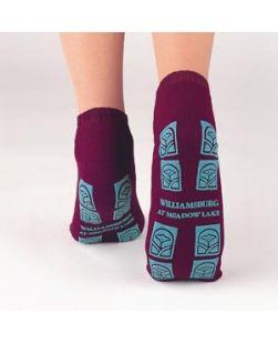 Adult Slipper Socks, Gray, 48 pr/cs (custom imprinted)