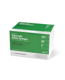 Tuberculin Safety Syringe, 1mL, 27G x ½, 50/bx, 10 bx/cs (Continental US Only)