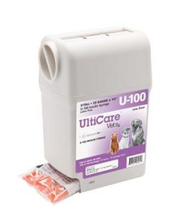 UltiGuard U-100 Syringe Dispenser, 29G x ½, 3/10cc, 100/bx