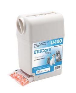 UltiGuard U-100 Syringe Dispenser, 29G x ½, 1/2cc, 100/bx