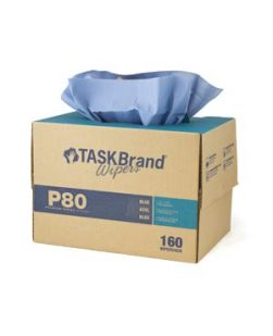 Taskbrand®  P80 PD Hydrospun, Interfold, Twin Tote, Blue,  12 x 16.75, 160/bx, 1 bx/cs