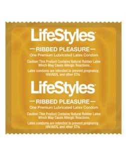 Condoms, Lubricated, Pleasure Ribbed, 1000/cs (US Only) (To Be DISCONTINUED)