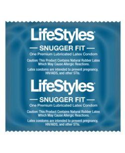 Condoms, Lubricated, Snugger Fit, 1000/cs (US Only) (To Be DISCONTINUED)