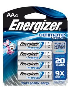 Battery, AA, Lithium, 4/bx, 6 bx/pk, 6 pk/cs (Item is considered HAZMAT and cannot ship via Air or to AK, GU, HI, PR, VI)