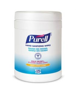 Durable Textured Wipes For Superior Cleaning, Non Linting, 270 ct Popup Canister, Wiper Size 6 x 6¾, Tested & Approved For Hands, Not Approved For Use as a Surface Disinfectant, 6 can/cs (60 cs/plt)