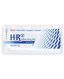 HR® Sterile Lubricating Jelly 5gm One Shot®, 144/bx