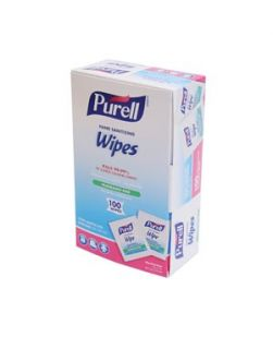 Sanitizing Wipes, 6 x 8, Refill Pouch For Use with Large Wall Dispenser, 1200/pouch, 2 pch/cs