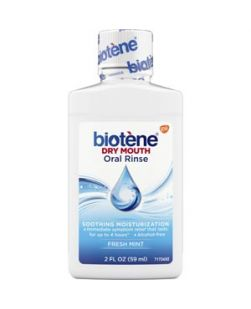 Biotène Dry Mouth Oral Rinse, Fresh Mint, 2 oz. bottle, 24/cs (280 cs/plt)  (Available for sale in US only) GSK# 00592C (Products cannot be sold on Amazon.com or any other third Party sites.)