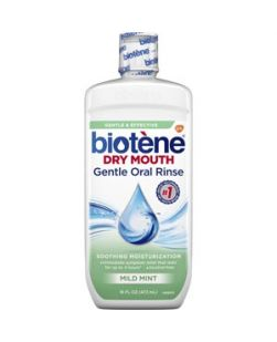 Biotène Dry Mouth Gentle Oral Rinse, Mild Mint, 16 oz. bottle, 4/pkg, 2 pkg/cs (8 bottles total) (Available for sale in US only) GSK# 00456 (Products cannot be sold on Amazon.com or any other third Party sites.)