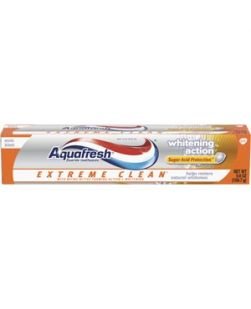 Aquafresh® Extreme Clean® Fluoride Toothpaste with Whitening Action, Mint Blast flavor, 5.6 oz. tube, 12/cs (Available for sale in US only) GSK# 33873C (Products cannot be sold on Amazon.com or any other third Party sites.)