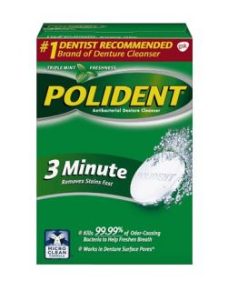 Polident® 3-Minute Antibacterial Cleanser, 84 tablets/box, 6 boxes/cs (Available for sale in US only) GSK# 05316K (Products cannot be sold on Amazon.com or any other third Party sites.)