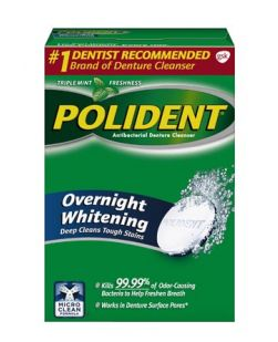 Polident® Overnight Whitening Antibacterial Cleanser, 84 tablets/box, 6 boxes/cs (Available for sale in US only) GSK# 03447A (Products cannot be sold on Amazon.com or any other third Party sites.)