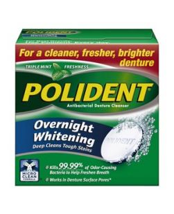 Polident® Overnight Whitening Antibacterial Cleanser, 40 tablets/box, 6 boxes/pkg, 2 pkg/cs (12 -40ct boxes total) (Available for sale in US only) GSK# 03443A (Products cannot be sold on Amazon.com or any other third Party sites.)