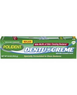 Polident® Dentu-Crème® Cleanser, 3.9 oz. tube, 12/cs (Available for sale in US only) GSK# 09215A (Products cannot be sold on Amazon.com or any other third Party sites.)