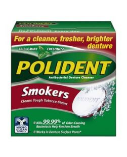 Polident® Antibacterial Cleanser-Smokers, 40 tablets/box, 6 boxes/pkg, 2 pkg/cs (12 -40ct boxes total) (Available for sale in US only) GSK# 32081A (Products cannot be sold on Amazon.com or any other third Party sites.)