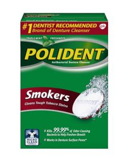 Polident® Antibacterial Cleanser-Smokers, 84 tablets/box, 6 boxes/cs (Available for sale in US only) GSK# 32083A (Products cannot be sold on Amazon.com or any other third Party sites.)