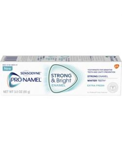 ProNamel® Strong & Bright Toothpaste, Extra Fresh taste, 3 oz. tube, 6/pkg, 2 pkg/cs (12 tubes total) (Available for sale in US only) GSK# 83071D (Products cannot be sold on Amazon.com or any other third Party sites.)