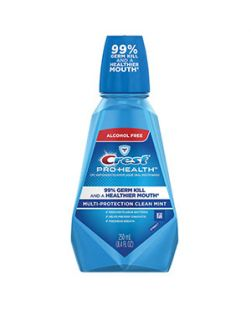 Crest ProHealth Rinse, Clean Mint, 250ml, 6/cs