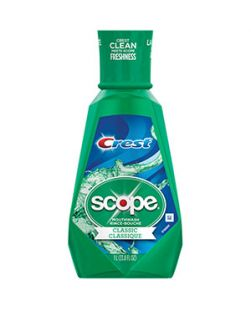 Scope Mouthwash, Classic Original Mint, 1 lt, 6/cs