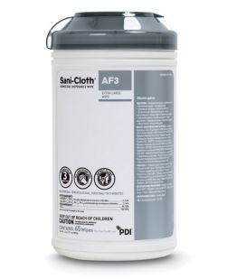AF3 Germicidal Disposable Wipe, X-Large, 7½ x 15, 65/canister, 6 can/cs (40 cs/plt) (091238) (US Only)