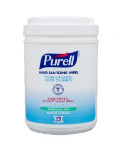 Sanitizing Wipes, 175 Ct Canister, 6/cs