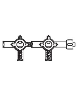 3-Way HI-FLO Stopcock, 2-Gang, Extended Male Luer Lock, PVC Free, No DEHP, 25/cs (US Only)