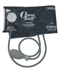 Blood Pressure Cuff, 2 Tube Bladder Omni-Kuff® Adult X-Long X-Long Nylon