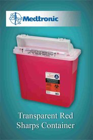 Transparent Red Sharps Container